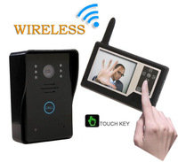 "2.4GHz Wireless 3.5"" Color Video Door Phone Intercom Home Security Doorbell With Night vision Camera Peephole"
