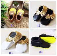 Various of Genuine leather baby tassel moccasins soft sole moccs bootiesToddler/infant solid colour fringe shoes prewalker 003