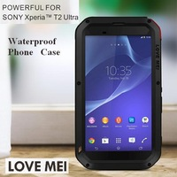 For Sony Xperia T2 Case Waterproof Dirtproof Shockproof  Phone Case Corning Gorilla Glass Five Colors Free Shipping