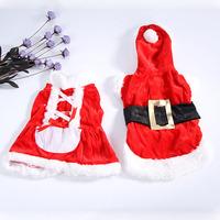 Free & Dropshipping   MR/MRS Santa Claus Clothes Christmas Coat Pet Dog Cat Apparel Dress Xmas Costume