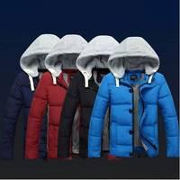 Wholesale! Man Plus size New 2014 Winter Casual Cotton-padded Winter Jacket Men Parka Winter Coat Men Parkas Free shipping B1386