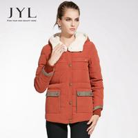 JYL 2014 Winter New Arrival Casual 90% duck down women parka winter jackets,military style cargo pockets fleece parka jackets