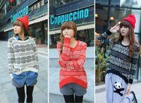 2014 Fashion  Women Crochet Knit Blouse Long-sleeve Tops Women Sweater