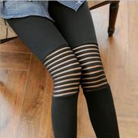 Autumn New Knees Middle Steel Strip Legging Women 2014 Hin Thin Slim Leggings LG0001