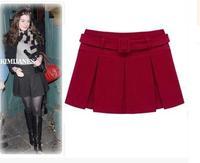 2014 wool blending skirt autumn and winter bust skirt pleated skirts
