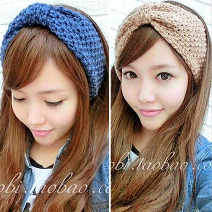 4H010 Winter women Wholesale Knit Hairband Crochet warmer Head wrap Headband Ear Warmer Gift(China (Mainland))