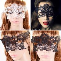 Halloween Black Lace Eye Mask Masquerade Ball Prom Halloween Costume Fancy Dress