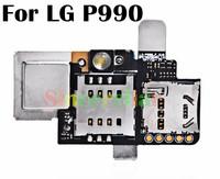 Original OEM Sim Card Reader Tray & Memory Card Socket Holder Flex Cable for LG OPTIMUS 2X P990 Not copy product