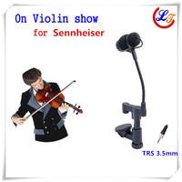 Free Shipping Lapel Condenser Viola Mandolin Violin Microphone Instrument Microfone for Sennheiser Wireless System TRS 3.5mm