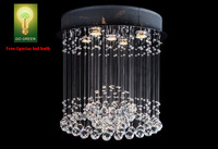 Chandelier Crystal K9 Free Epistar LED bulb Reliable Quality 1 Ball with ring Design Energy Saving Living Room Antirust Lights