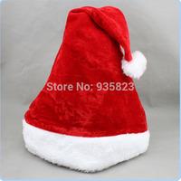 Free shipping 5pcs New Year Christmas Decoration Ornaments 25*40cm Santa Claus Xmas Cloth Cap Christmas Gift Christmas Hat