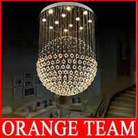 Modern LED Crystal Chandelier Living Room Bedroom Lamp Creative Restaurant K9 Cystal Chandelier Hanging Wire Ball Chandelier