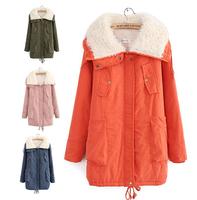 Autumn and winter women cotton-padded coat slim Women down cotton-padded jacket medium-long wadded jacket thickening