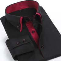 High Grade Brand Men's Casual Shirts Slim Fit Shirts Business Casual Work Wear Men Shirt Long Sleeve