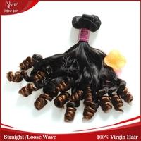 Free Shipping Bundles of virgin Human Hair Extension Double Drawn Aunty Funmi Hair Loose Wave No tangle No Shedding Bouncy Curls
