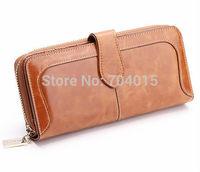 "Premium Genuine Real Leather Bifold Purse Women's Fashion Designer Wallet 7"" New With Box"