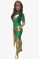 X MAN Jean Grey Marvel Girl Superhero Zentai Suit Full Body Suits Halloween Lycra Costumes Spandex Unitard  Cosplay Catsuit