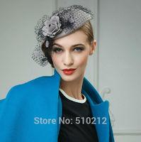 100% wool top grade flower wedding hats and fascinators party wedding hat veils