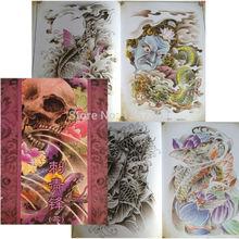 Free shipping Popular Classic Tattoo Design Flash Manuscript Sketch Book A4 Size For Tattoo Supplier
