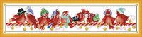 2014 New Christmas Birds (2) Pattern Counted Cross Stitch DIY DMC Cross Stitch Sets Stitching Embroidery Kits Christmas Gifts