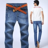 Wholesale 2014 new hot high quality fashion casual men's jeans famous brand jeans men Frayed jeans,trousers pants .8.31