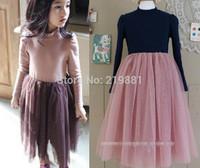 NEW ! 2014 girls lace gauze dress , girl dresses, 5pcs/lot   ZY06