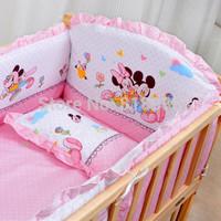With Filler 5 pcs Baby Crib Bumper  baby crib bedding set baby bedding baby crib sheets100% cotton boy bedding bumpers
