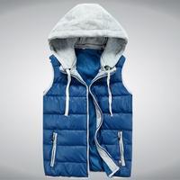 Wholesale-2014 down cotton VEST JACKET,MAN OUTERWEAR VEST,slim casual male fashionable vest 8.31