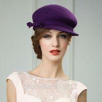 top grade 100% Imported Australian wool  elegant classics women's fedoras wool felt fedoras hat