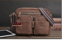 2014 New Hot Sale Men's Genuine Leather Famous Brand Casual Vintage Messenger Shoulder Bags Fashion Design High Quality