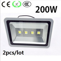 (2pcs/lot) 85-265V 200W LED Floodlight Outdoor 200W LED Flood light lamp waterproof garden lamp street luminaire Tunnel lights
