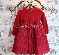 2014 autumn girls lace princess dress, 5pcs/lot   ZQQ01