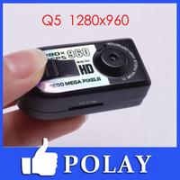 Q5 960P HD Mini Thumb DV Camera spy Digital Camera Recorder With Motion Detection 1280 * 960 Free Shipping