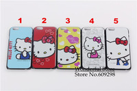 Newest! Cute Hello Kitty Printing Case Cover for iPhone6 4.7inch Free Shipping/ For iPhone6 Printed Hard Case Free Shipping