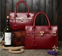 European and American Brand fashion women handbag shoulder bag messenger bags quality Genuine + PU leather Tassel vintage totes