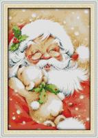 2014 Christmas Gift Santa Claus (2) Pattern Counted Cross Stitch DIY DMC Cross Stitch Sets Stitching Embroidery Kits Needlework