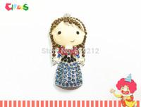 Newest ~!   53mm*25mm    10pcs/lot  Rhinestone Pendants (Anna)  For Chunky Kids Jewelry