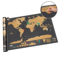 Scratch Map Deluxe Edition With Scratch Off Layer Visual Travel Journal