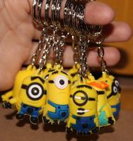 wholesale 20pcs/lot new 2014 new kpop shinee chaveiro minion  key holder