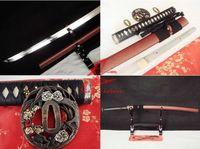 Clay tempered japanese katana sword choji hamon shobu zukuri kissaki sharpened battle ready