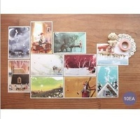 Free shipping Korea indigo Anne of Green Mountain walls and Daddy Long Legs postcards ( 10pages) Christmas gift