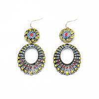 Crew Vintage Jewelry Drop Earrings For Women Brincos Grandes Ear Cuff Crystal Big Earring J 068