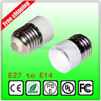 free shipping E27 to E14 Lamp Holder adapter Converter Socket Light Bulb Lamp Holder Adapter Plug Extender wholesale