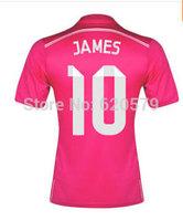 14 15 Madrid Away Pink Jersey 3A+++ Best Thailand KROOS RONALDO #7 BALE #11 2014 Madrid Football Shirt Women Camisa de Futbol