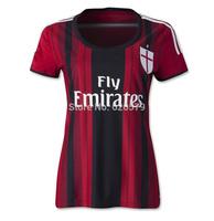 lady women ac milan kaka 13 14 jersey shirts soccer uniforms football jersey ac milan women jersey 13 14