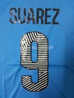 SUAREZ #9 Uruguay 2014 Home Blue Away White Men Soccer Jersey A+++ Best Thailand 14 15 Uruguay Football T shirt Custom S M L XL