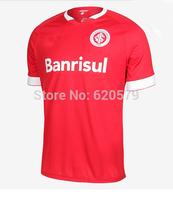 CAMISA MASCULINA Sport Club Internacional 2014 Home Red New 2015 A+++ Thailand Wear Soccer Jersey Camisetas De Futbol Uniform