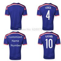 2014 Japan Home Soccer Jersey 14 15 New japan Thai quality Men football Shirts KAGAWA 10# HONDA 4# Uniforms Tracksuit
