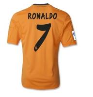 #7 Ronaldo Real Madrid Jersey away orange 2014 Shirt 13 14 Soccer Jersey Thailand Quality