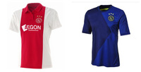 New 2014 2015 Ajax Jersey soccer home/away thailand quality aiax 14 15 football soccer jersey custom name and number